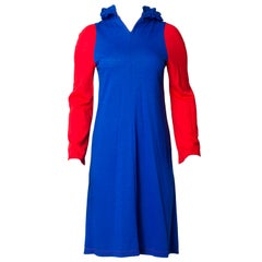 Stephen Burrows Colorblock Knit Dress with Hood