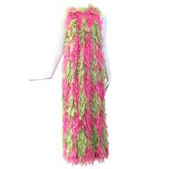 GALANOS 1960s Pink and Green feather dress ( documented)
