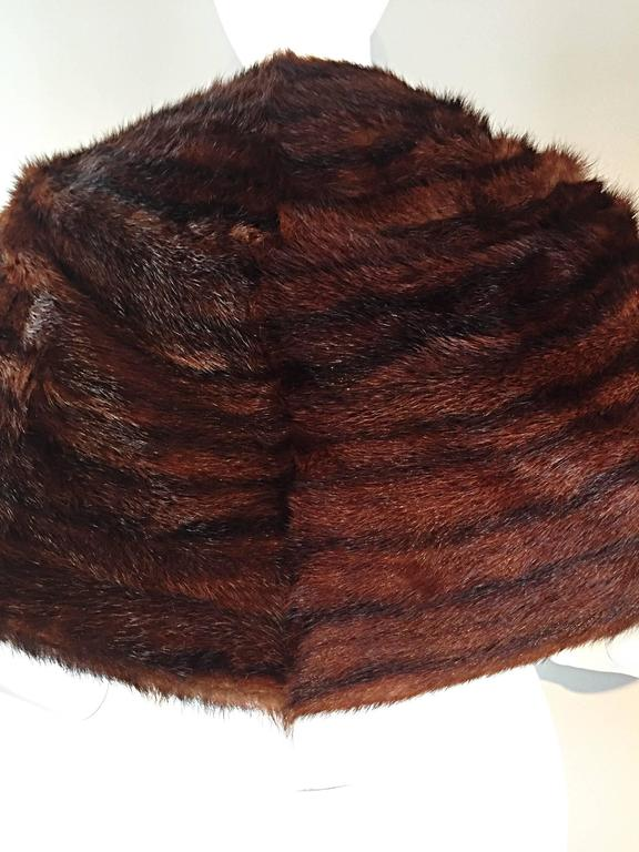 Beautiful 1950s 50s Vintage Beaver Fur Brown Shawl Stole Jacket 6