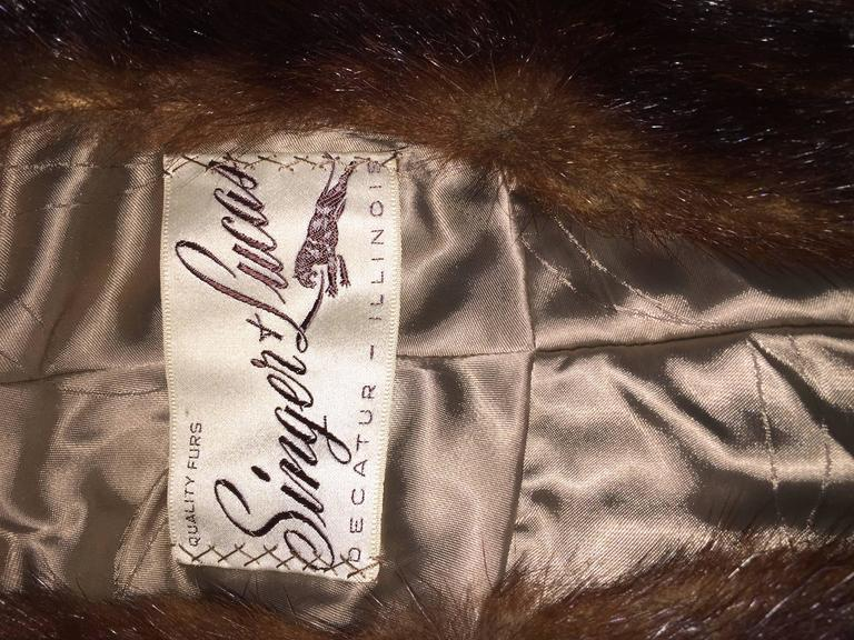 Beautiful 1950s 50s Vintage Beaver Fur Brown Shawl Stole Jacket 10