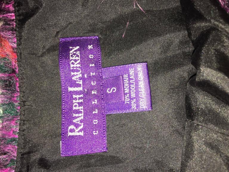 Vintage Ralph Lauren ' Purple Label ' Mohair Tartan Plaid Pink Blouse Top Jumper For Sale 5