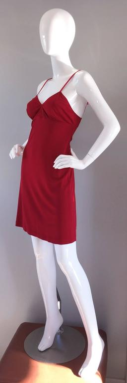 1990s Gianfranco Ferre Sexy Lipstick Red 90s Vintage Jersey Mini Dress 5