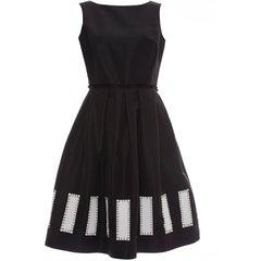Oscar De la Renta Runway Sleeveless Black Silk Faille Dress, Spring 2006
