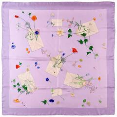 Hermes Silk scarf 'Des Fleurs pour le Dire' by Leigh P Cooke