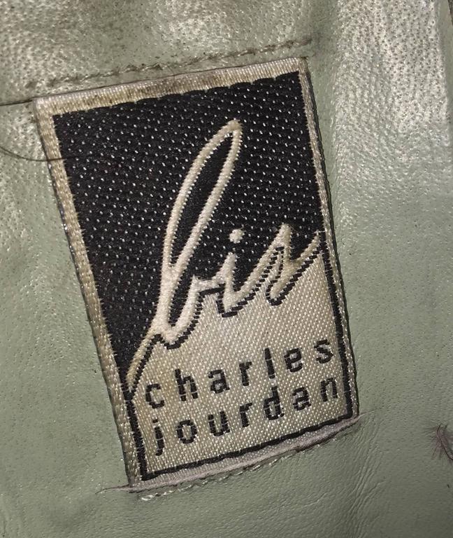 Rare Vintage Charles Jourdan Size 7.5 Merlot Wine Velvet Ostrich Feather Booties For Sale 1