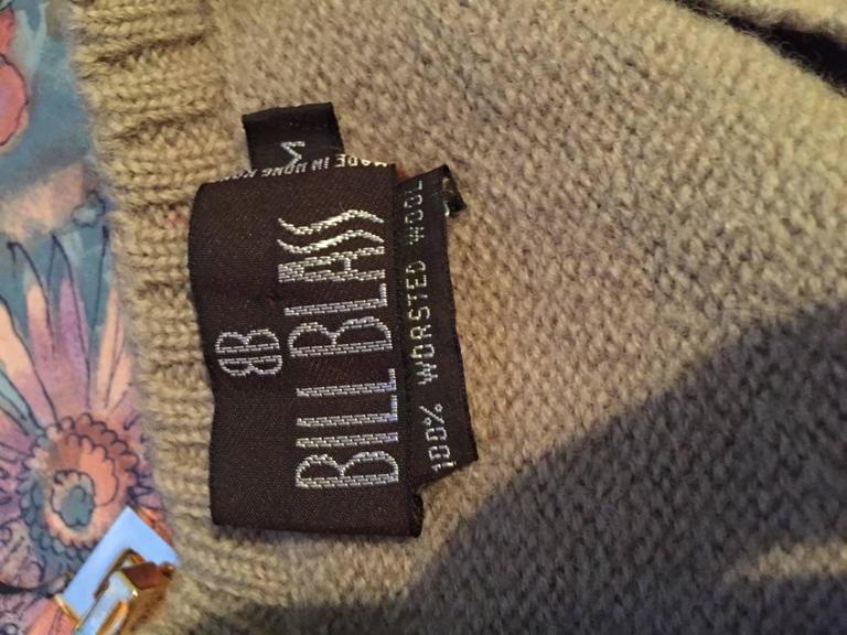 Vintage 1970s Bill Blass Tan + Ivory Plaid Mohair Wool Sweater Vest / Jumper 8