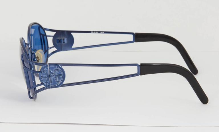 Jean Paul Gaultier Vintage 58-6102 Sunglasses  In Excellent Condition For Sale In New York, NY