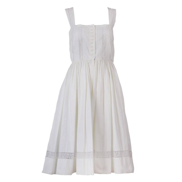 Lanvin Haute Couture Cotton and Lace Sun Dress