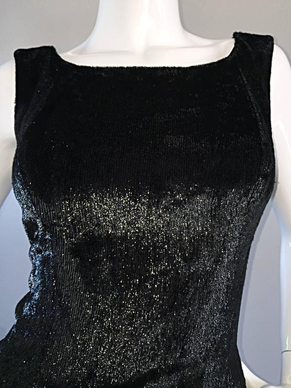 New 1950s Suzy Perette Vintage 50s Black Velvet Wet Look