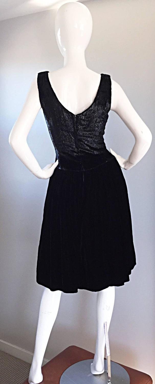 New 1950s Suzy Perette Vintage 50s Black Velvet \' Wet Look ...