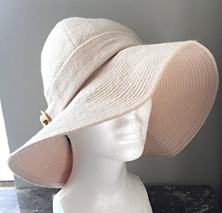 f61e6ac8f44 Rare Iconic Yves Saint Laurent Vintage Safari Hat from 1968 Safari ...