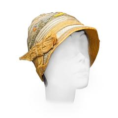 1920s Yellow Cloche Hat