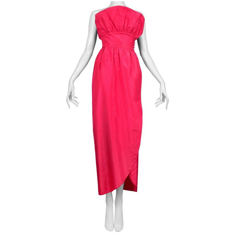 Lanvin Fuchsia Taffeta Gown