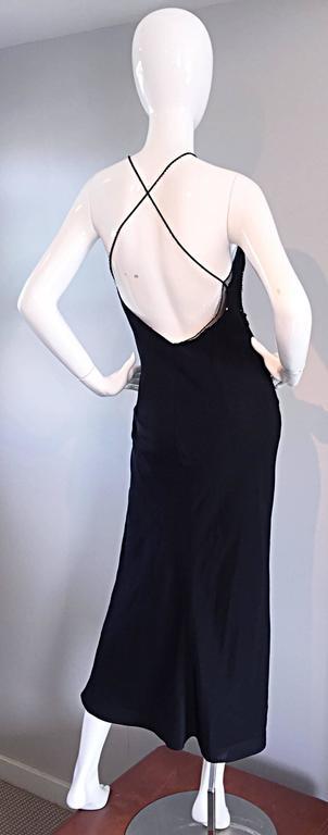 Women's Beautiful Vintage Lillie Rubin Size 8 Cut Out Beaded Handkerchief Dress Size 8 For Sale