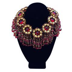 Exquisite One-Off William de Lillo Fringed Collar Necklace 1979