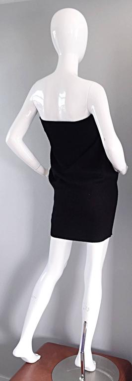 Sexy Vintage Patrick Kelly 1980s 80s Black Wool Strapless Dress, Top, or Skirt 8