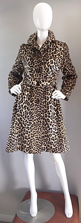 Rare 1960s Jean Patou by Karl Lagerfeld Faux Fur Leopard ...