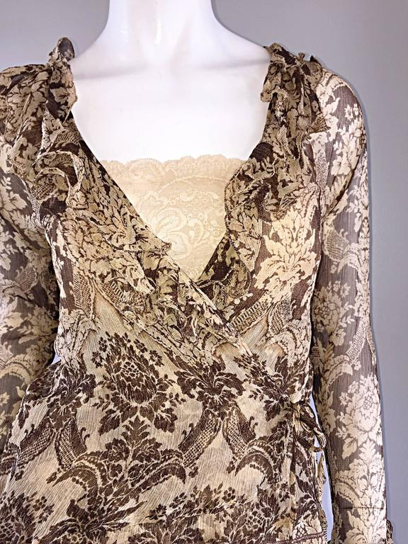 Amazing Vintage Roberto Cavalli Regal ' Victorian Lace ' Silk Blouse & Cardigan  For Sale 4