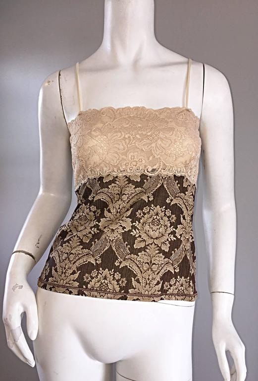 Amazing Vintage Roberto Cavalli Regal ' Victorian Lace ' Silk Blouse & Cardigan  For Sale 1