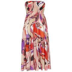 Emilio Pucci Signature Print Ensemble Dress Skirt Scarf Top