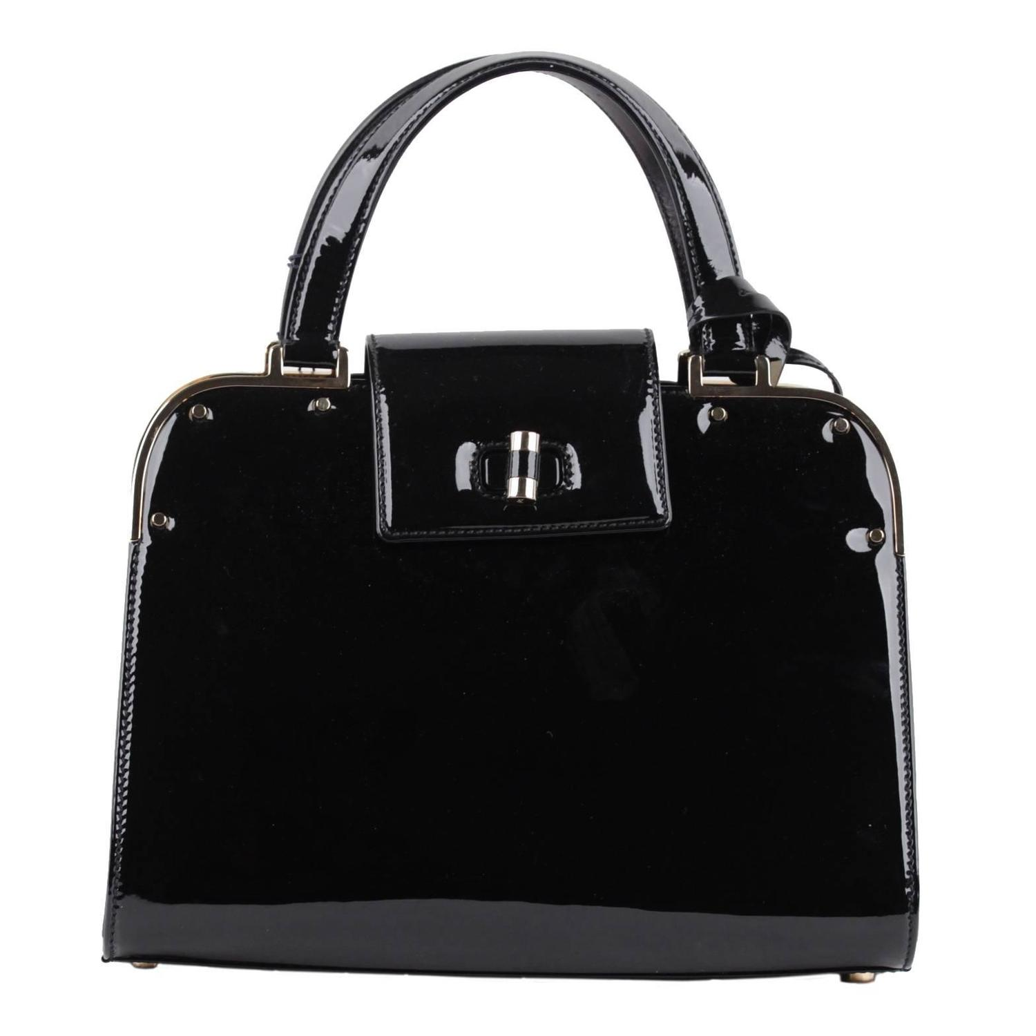 ysl purses replica - YVES SAINT LAURENT Black Patent Leather UPTOWN Bag HANDBAG Satchel ...