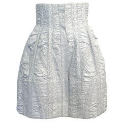 Alaia Powder Blue Eyelet Skirt