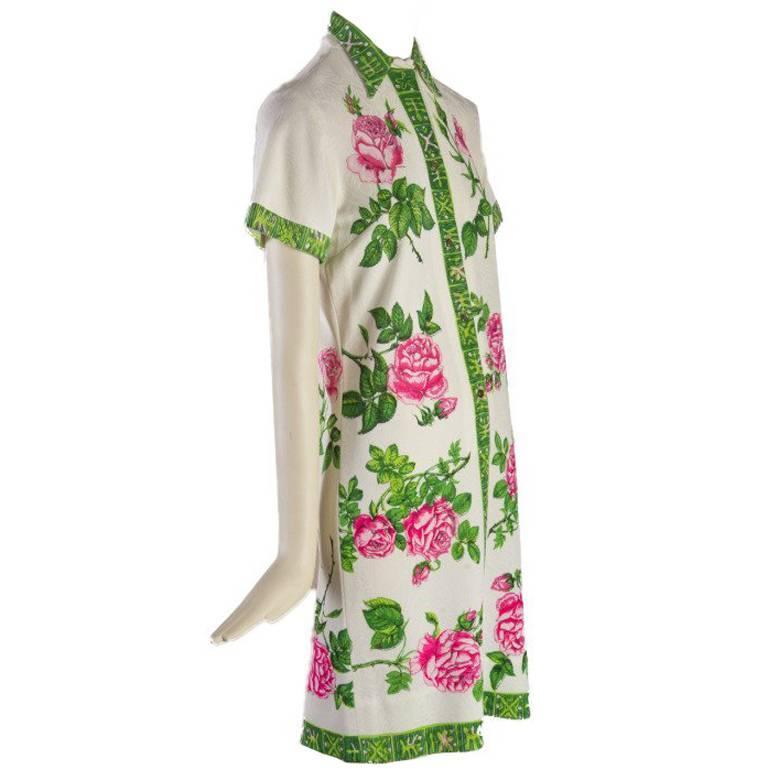 Mr. Dino Short Sleeve Summer Dress - 60's - Fabulous Condition