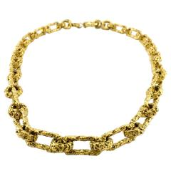 Chanel Baroque Style Gold-Plated Chain - 1993