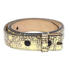 Kieselstein-Cord Black & Cream Lizard Skin Belt Strap sz 80
