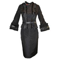 NWT A/W 2002 Alexander McQueen Met Savage Beauty Fringe Jacket Skirt Suit