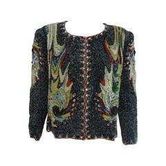 Museum Quality Atelier Versace Beaded Jacket 1991