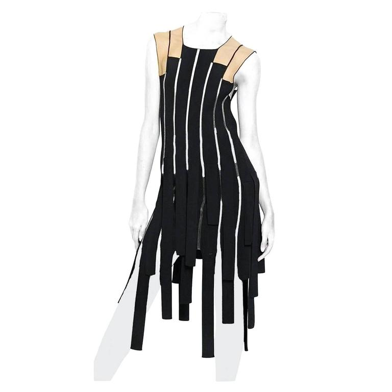 Jean Paul Gaultier Racy Ribbon Body Hugging Dress  For Sale