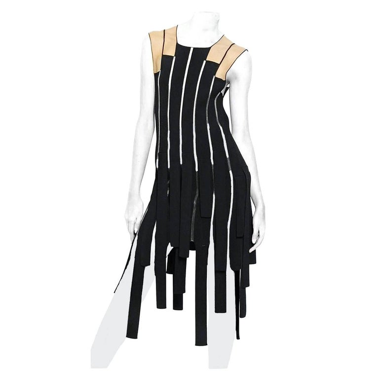 Jean Paul Gaultier Racy Ribbon Body Hugging Dress   New! For Sale