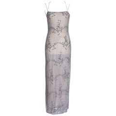 Giorgio Armani Black Label Vintage Beaded Gown