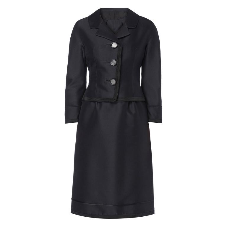 Dior black skirt suit, circa 1962 1
