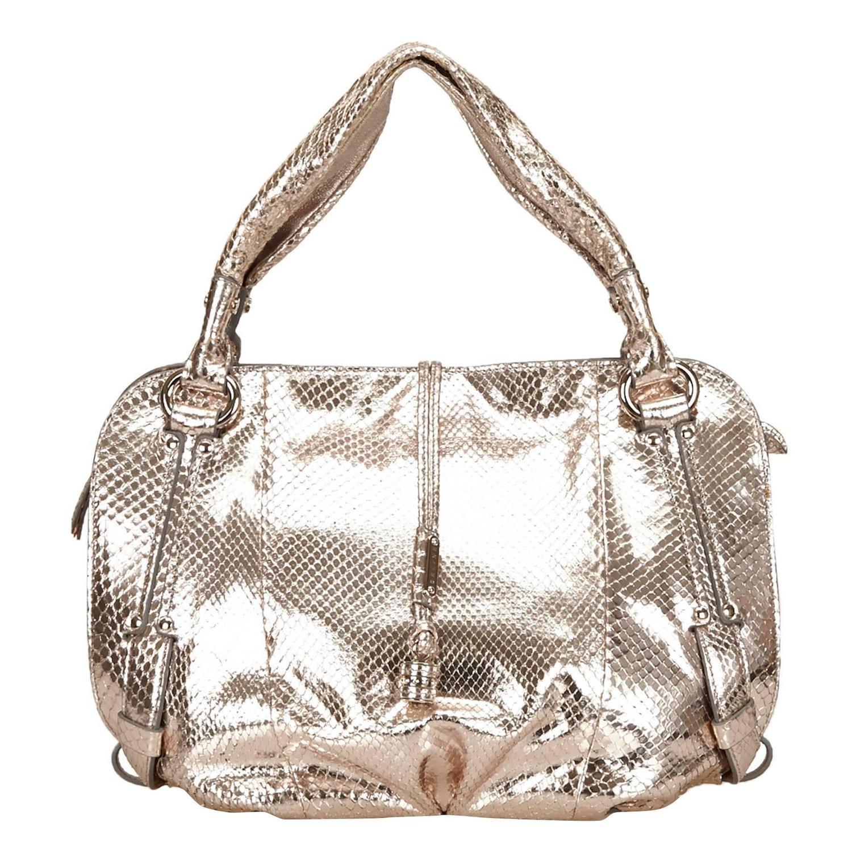 sacs celine - Celine Gold Metallic Python Leather Bittersweet Shoulder Bag For ...