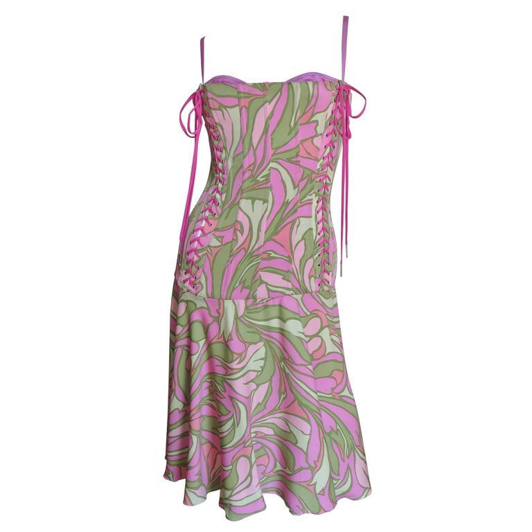 Dolce & Gabbana Lace Up Corset Dress 1