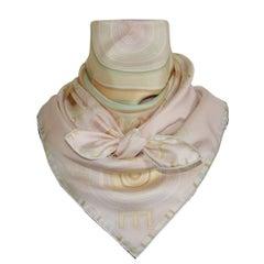 Hermès Silk Scarf Carré Soie Tohu Mohu Mayr Mutted Summer Colors 90 cm Box