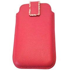Smythson Pink Cell Phone / Card Holder