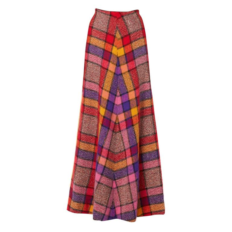 Missoni multicoloured skirt, circa 1975 For Sale