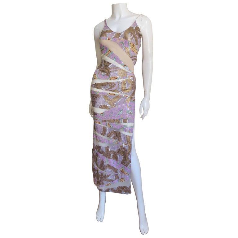 Julien Macdonald Dramatic Bodycon Sequin Dress