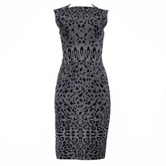 Alaia Grey Leopard Dress 2011