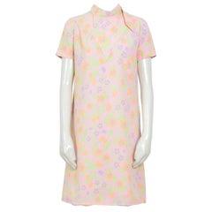 Pierre Cardin Edition Takashimaya Pink Flower Dress, 1960s