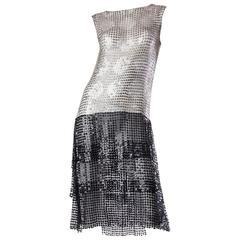 Spectacular 1920s Art Deco Sequin Net Dress