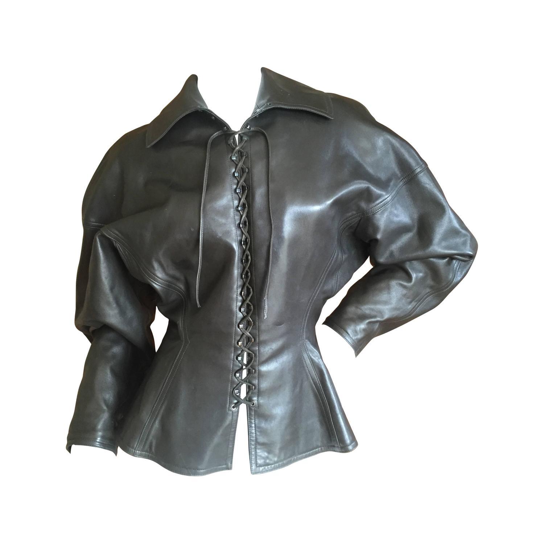 Corset Leather Jacket 90
