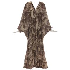 Mr. Blackwell Tiger Print Kaftan, Circa 1980s