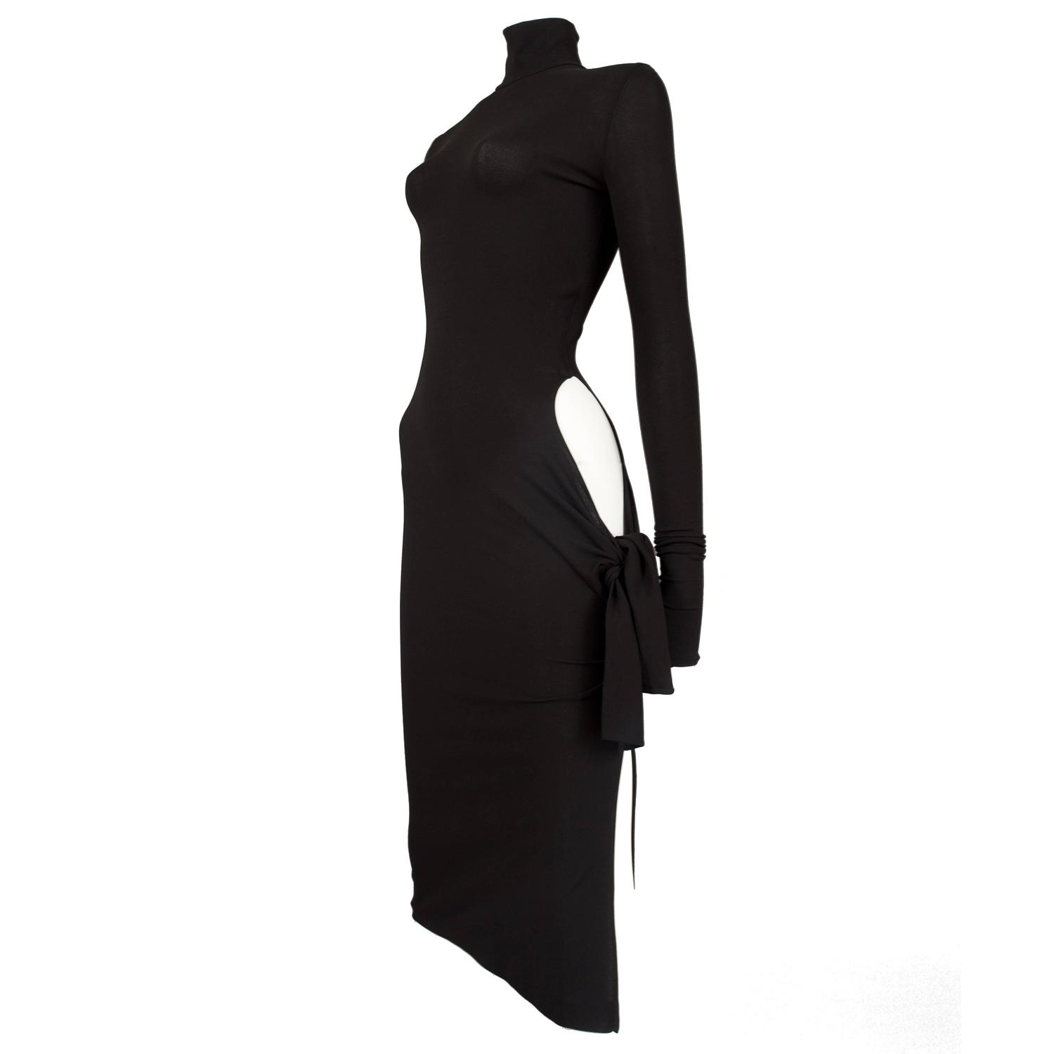 Dolce and Gabbana black bodycon evening dress with cut out, circa ...