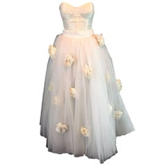 S/S 1992 Dolce & Gabbana Bridal Wedding Gown Bustier Tulle Skirt Shrug Ensemble
