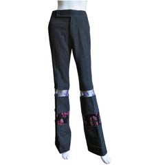 2001 AD Comme des Garcons Pants with Velvet and Lace Panels