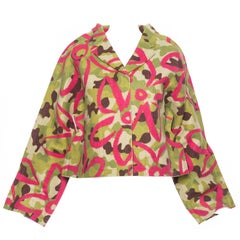 Comme des Garcons Runway 'Flat' or '2D'  Collection Camouflage Jacket, Fall 2012